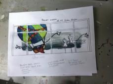 sketch with large basket